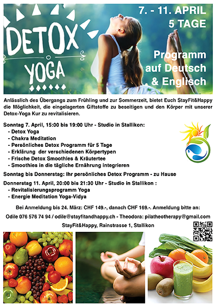 Detox Yoga im April